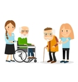 Caring for seniors vector image