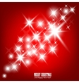 red beautiful christmas background vector image