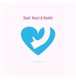 Good heart and Health logo design vector image