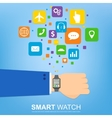 smart watch new technology electronic device with vector image