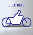 Like Bike vector image