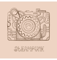 photo camera steampunk vector image