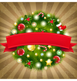 Retro Merry Christmas Composition vector image