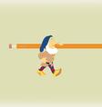 The fantastic gnome which bearsa pencil vector image