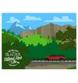 Touring Glacier National Park vector image