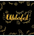 Oktoberfest Gold and Black Design vector image