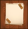 White paper with wood background vector image vector image