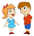 Cartoon kids Little girl and boy vector image