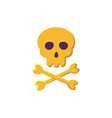 skull and bones icon vector image