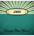 2015 retro green vector image