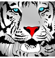 Abstract White Tiger vector image vector image
