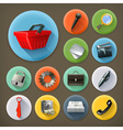 Universal long shadow icon set vector image vector image