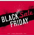 Black friday sale banner on red knitwear backgroun vector image