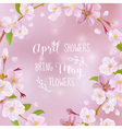 Cherry Blossom Spring Card - with Quote vector image