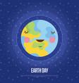 earth day cartoon web banner vector image