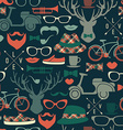 Hipster seamless pattern vintage vector image