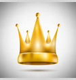 Isolated on White Pentagonal Golden Crown vector image