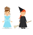 Little Princess and Witch vector image
