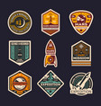 mars mission isolated label set vector image