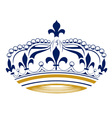 retro king crown vector image