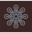 Round design element on brown background vector image