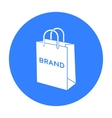 Shopping bag icon in black style isolated on white vector image