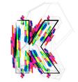 Colorful Font Letter K vector image vector image