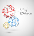 Abstract christmas decorations vector image vector image