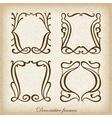 Set of calligraphic Vintage frame vector image vector image