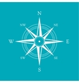 icon old marine compass vector image