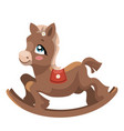 a toy horse for children a cartoon horse for vector image
