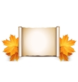 Autumn background with place for text vector image