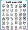 data analysis concept detailed line icons vector image