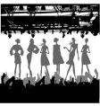 fashion podium silhouette vector image