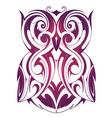 owl tattoo shape vector image