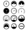 Speed meter icons set vector image