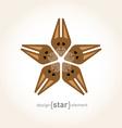 Star with happy squirrel vector image