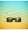 Summer retro label with sunglasses vector image