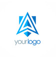 triangle arrow navigation logo vector image