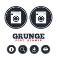 Washing machine icon home appliances symbol vector image