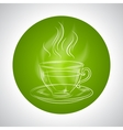 Design with cup of tea and place for text vector image vector image