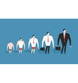 Business evolution development of simple worker in vector image