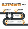 Road map street highway modern business vector image