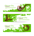 Set of St Patricks Day banners with hand drawn vector image