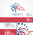 Statue of Liberty Freedom Logo Concept Template vector image