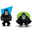 Gorilla Character Set vector image