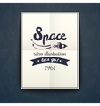 Space retro poster vector image