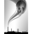 factory white curve black vector image