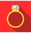 Women wedding ring icon flat style vector image