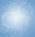 Abstract bubbles on a blue background vector image